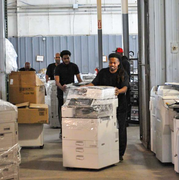 Our Valley Relocation crew moving printers
