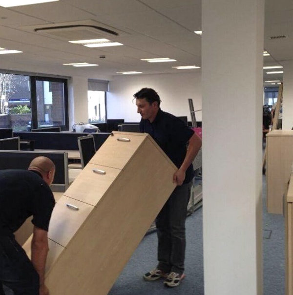 Commercial Office Movers at work