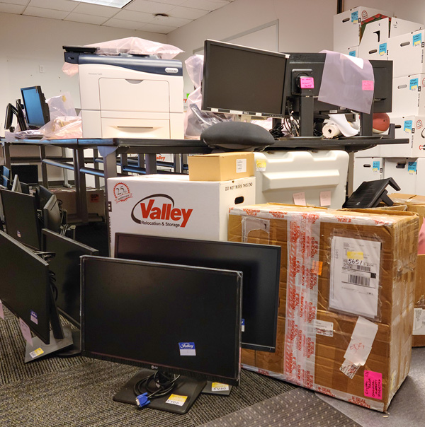 Business Office moving by our Silicon Valley Movers team