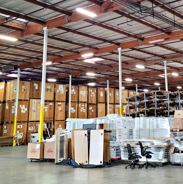 Inside look at Commercial Warehouse Valley Relocation Sacramento Moving Company