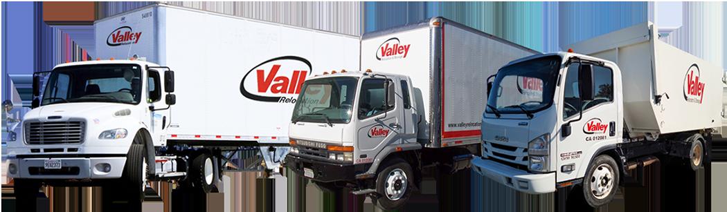 Sacramento Moving Company Valley Relocation's example of truck fleet