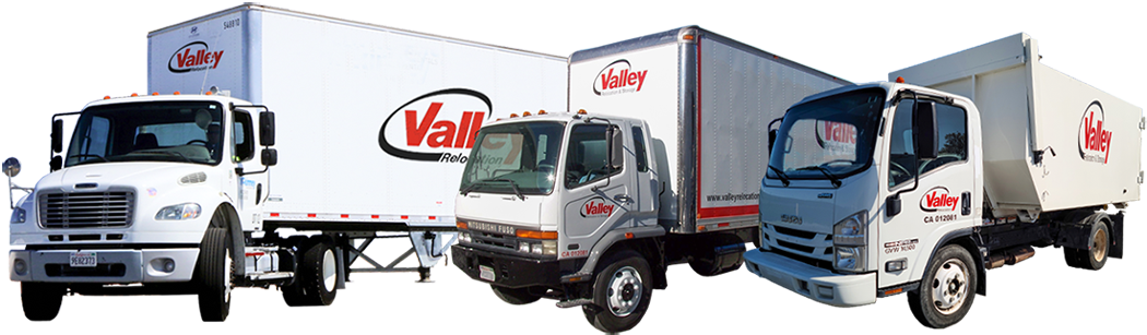 Example of Fleet trucks used by Valley Relocation Moving Services