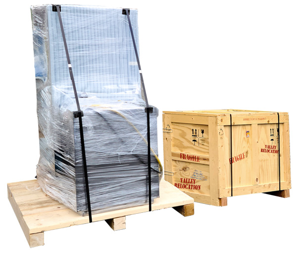 domestic shipping services can include unpackage or needing to be package or crated
