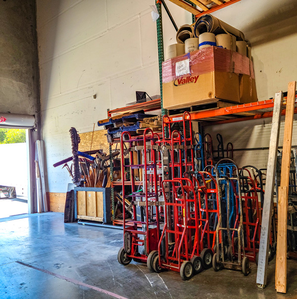 Nearby Commercial Sacramento Warehousing Valley Relocation clean storage