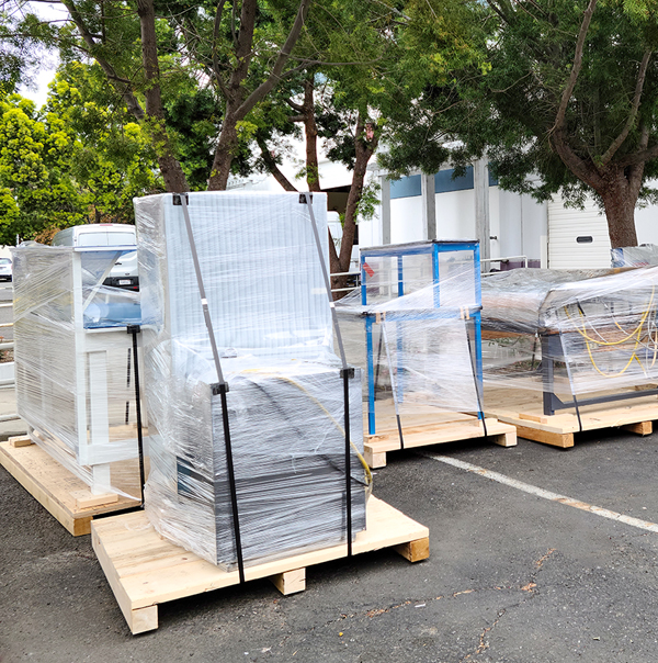 Medical equipment movers have prepare for loading