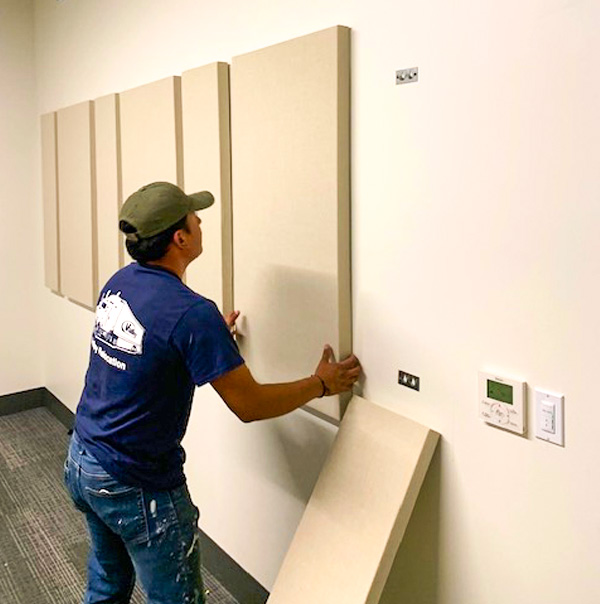 Hanging Pictures Boards after business patch and paint