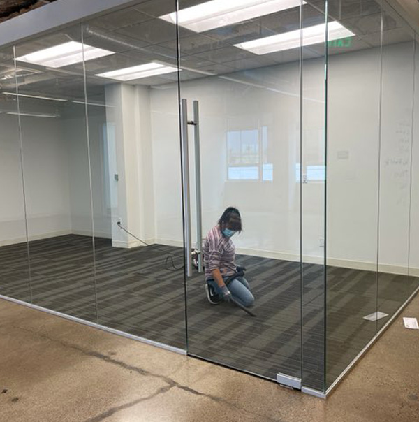 Valley Relocation Mover Cleans Office Space after move